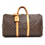 Vintage Louis Vuitton Keepall 50 Monogram Canvas Travel Bag