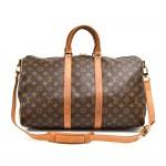 Vintage Louis Vuitton Keepall 45 Bandouliere Monogram Canvas Travel Bag + Strap