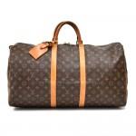 Vintage Louis Vuitton Keepall 55 Monogram Canvas Duffle Travel Bag