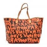 Louis Vuitton Neverfull GM Stephen Sprouse Neon Orange Graffiti Monogram Canvas Tote Bag