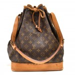 Vintage Louis Vuitton Noe Large Monogram Canvas Shoulder Bag 1980s