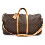Vintage Louis Vuitton Keepall 60 Bandouliere Monogram Canvas Travel Bag + Strap