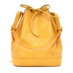 Vintage Louis Vuitton Noe Large Yellow Epi Leather Shoulder Bag