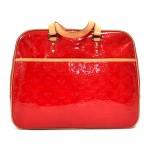 Louis Vuitton Red Monogram Vernis Leather Sutton Handbag