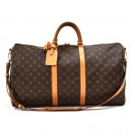 Vintage Louis Vuitton Keepall 55 Bandouliere Monogram Canvas Travel Bag + Strap