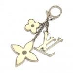 Louis Vuitton Fleur d'Epi White x Silver Tone Key Chain / Bag Charm