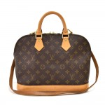Vintage Louis Vuitton Alma Monogram Canvas Handbag + Strap