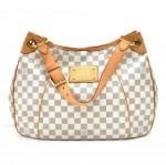 Louis Vuitton Galliera PM White Damier Azur Canvas Shoulder Bag