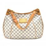 Louis Vuitton Galliera PM White Damier Azur Canvas Shoulder Bag