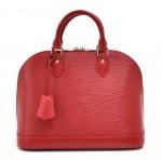 Louis Vuitton Alma Carmine Red Epi Leather Handbag
