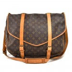 Vintage Louis Vuitton Saumur 43 XL Monogram Canvas Messenger Bag 1980s
