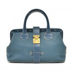 Louis Vuitton L'ingenieux PM Blue Suhali Leather Handbag-Rare Limited Ed