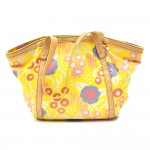 Chanel Yellow Cotton Canvas Multicolored Floral Tote Bag