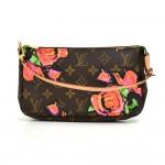 Louis Vuitton Pochette Accessories Rose Monogram Stephen Sprouse Handbag-Rare