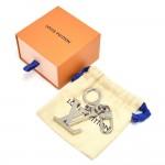 Louis Vuitton Porte Cles Initials LV Logo Silver Tone Keychain /  Bag Charm