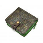 Louis Vuitton Perforated Monogram Canvas & Green Leather Wallet - 2006 Limited Ed