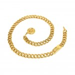 Vintage Chanel Gold-Tone Chain & CC Logo Medallion Waist Belt