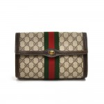 Vintage Gucci Accessory Collection GG Supreme Coated Canvas Clutch Bag