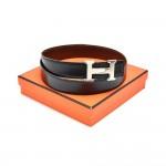 Hermes Constance Black & Brown Reversible Waist Belt 32 mm-Size 80