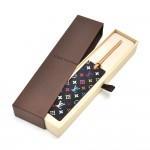 Louis Vuitton Black Multicolor Canvas & Leather Bookmark - Rare VIP Gift Item