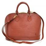 Louis Vuitton Alma Brown Kenyan Fawn Epi Leather Handbag + Strap