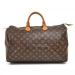 Vintage Louis Vuitton Speedy 40 Monogram Canvas Handbag 1980s