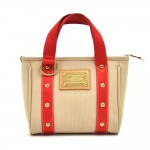 Louis Vuitton Cabas PM Beige & Red Antigua Canvas Handbag -  2006 Limited Ed