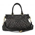 Louis Vuitton Neo Cabby MM Black Monogram Denim 2way Bag