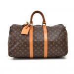 Vintage Louis Vuitton Keepall 45 Bandouliere Monogram Canvas Travel Bag