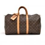 Louis Vuitton Keepall 45 Monogram Canvas Travel Bag