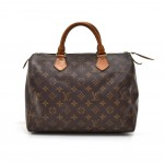 Vintage Louis Vuitton Speedy 30 Monogram Canvas City Handbag