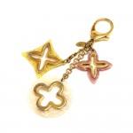 Louis Vuitton Insolence Tricolor Gold Tone Key Chain / Bag Charm