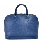 Louis Vuitton Alma Blue Epi Leather Handbag