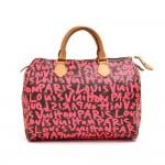 Louis Vuitton Fuchsia Graffiti Speedy 30 Monogram Canvas City Handbag - Limited Ed