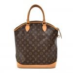 Vintage Louis Vuitton Lockit MM Monogram Canvas Handbag