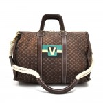 Louis Vuitton Initiales Keepall Ebene Monogram Mini Lin Boston Bag-2005 Limited