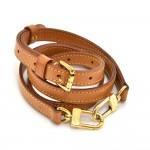 Louis Vuitton Brown Cowhide Leather Adjustable Shoulder Strap For S-M Bags