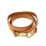 Louis Vuitton Beige Cowhide Leather Shoulder Strap For Small- Med Bags