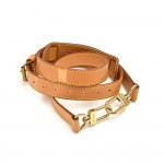 Louis Vuitton Beige Cowhide Leather Adjustable Shoulder Strap For Large to Travel Bags