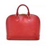 Louis Vuitton Alma Red Epi Leather Handbag