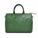 Vintage Louis Vuitton Speedy 25 Green Epi Leather City Handbag