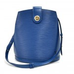 Vintage Louis Vuitton Cluny Blue Epi Leather Shoulder Bag