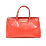 Louis Vuitton Willshire Orange Sunset Monogram Vernis Leather Handbag