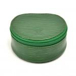 Louis Vuitton Ecrin Bijoux Green Epi Leather Mini Jewelry Case