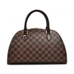 Louis Vuitton Ribera MM Ebene Damier Canvas Handbag