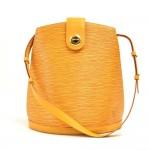 Louis Vuitton Cluny Yellow Epi Leather Shoulder Bag