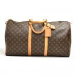 Vintage Louis Vuitton Keepall 55 Bandouliere Monogram Canvas Duffel Travel Bag