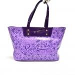 Louis Vuitton Cosmic Blossom Purple PM Vinyl Tote Bag-Limited Ed