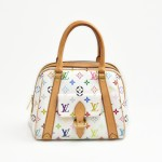 Louis Vuitton Priscilla White Multicolor Monogram Canvas Handbag