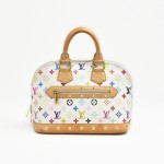 Louis Vuitton Alma White Multicolor Monogram Canvas Handbag